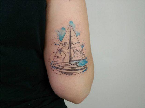 25+ melhores ideias de Tatuagens de barco no Pinterest