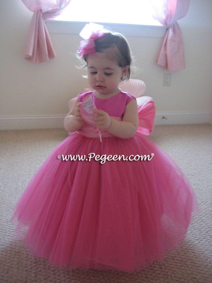 196 Best Hot Pink Flower Girl Dresses Weddings Images On Pinterest