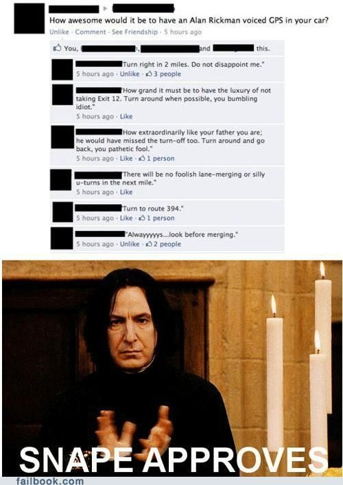 Alan Rickman GPS!!!!: Severus Snape, Harry Potter Character,  Website, Alan Rickman, Web Site, Internet Site, Harry Potter Spelling, Even, Be Awesome