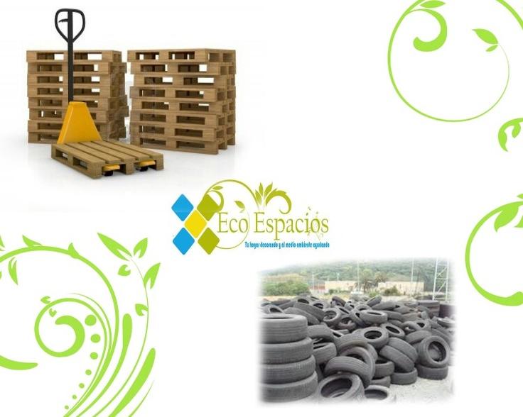 Presentación de la materia prima para la fabricación y comercialización de muebles. Eco Espacios.