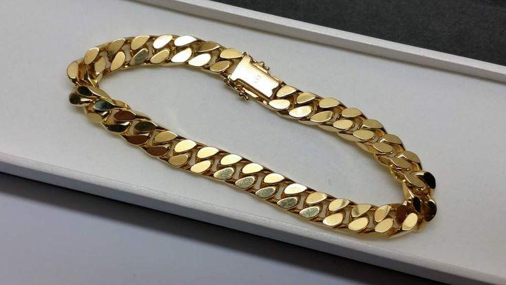 Vintage Armschmuck - Panzerarmband Armband Gold 333 massiv edel GA122 - ein Designerstück von Atelier-Regina bei DaWanda
