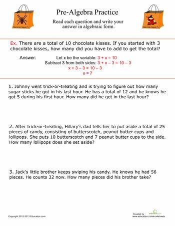 Help with pre algebra