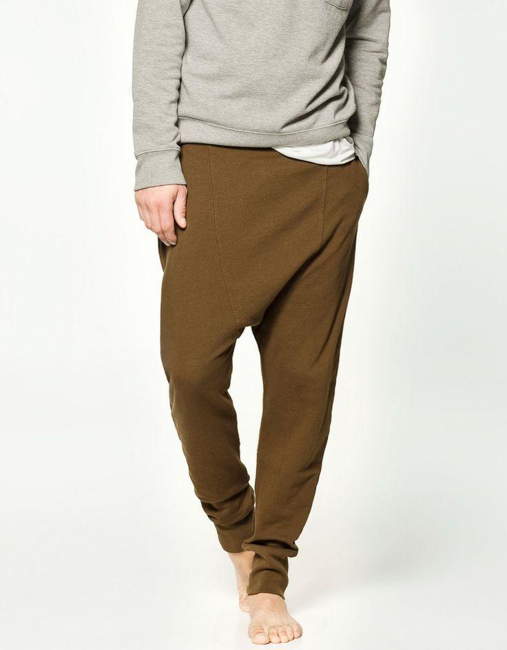 pantalone hombre zara marron