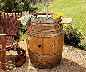 outdoor wine barrel bars ideas wine barrel sink by crisc alpine wine design outdoor