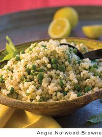 Lemon Israeli Couscous -- I'm taking this to Supper Club; serving it @ room temp. It's a nice side dish with subtle favors.
