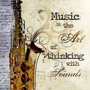 Pro Tour Memorabilia Saxophone with Music Saying Canvas Print