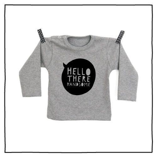 100% katoenen shirt met hippe opdruk Handsome vanPauline door vanpauline op Etsy https://www.etsy.com/nl/listing/222884890/100-katoenen-shirt-met-hippe-opdruk