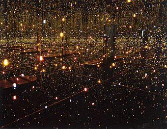 """Yayoi Kusama """"Fireflies on the Water"""" lights, mirrors"""