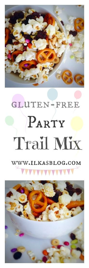 Gluten-Free Trail Party Mix! Colorful and fun for parties or movie night…