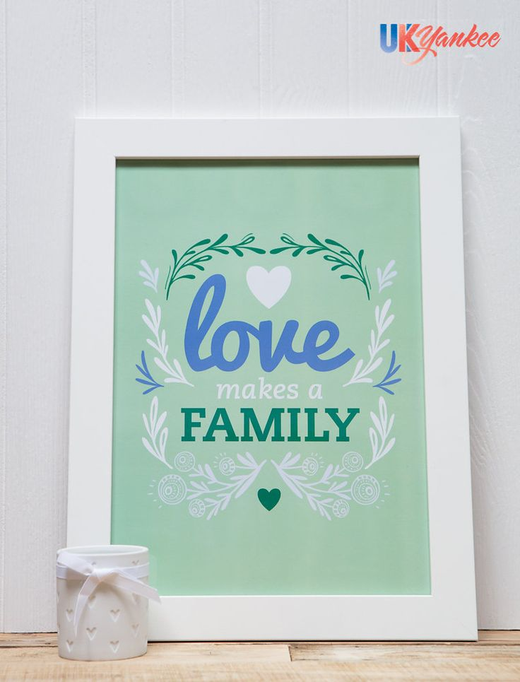 Love Makes a Family Print--from UK Yankee  #lovemakesafamily #loveislove #love #artprint #print #baby #nursery #decor #family #lgbt #lgbtfamily #lgbtparents