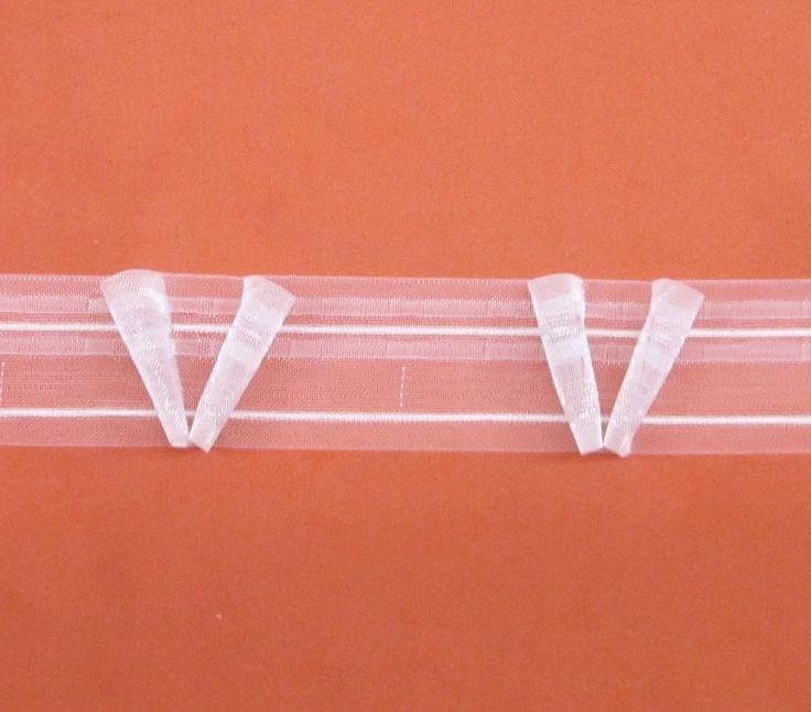 10m V Faltenband 12 Volltransparent 50mm Gardinenband Gardinenzubehr Gardinen