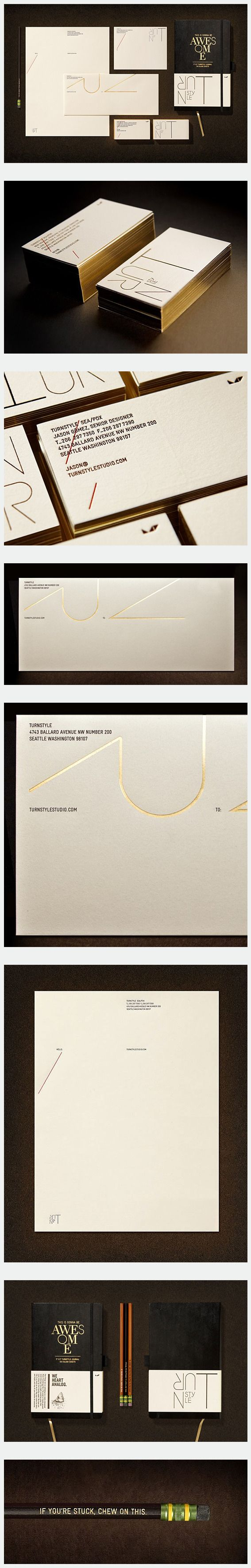 Gold Foil Stationery by Turnstyle