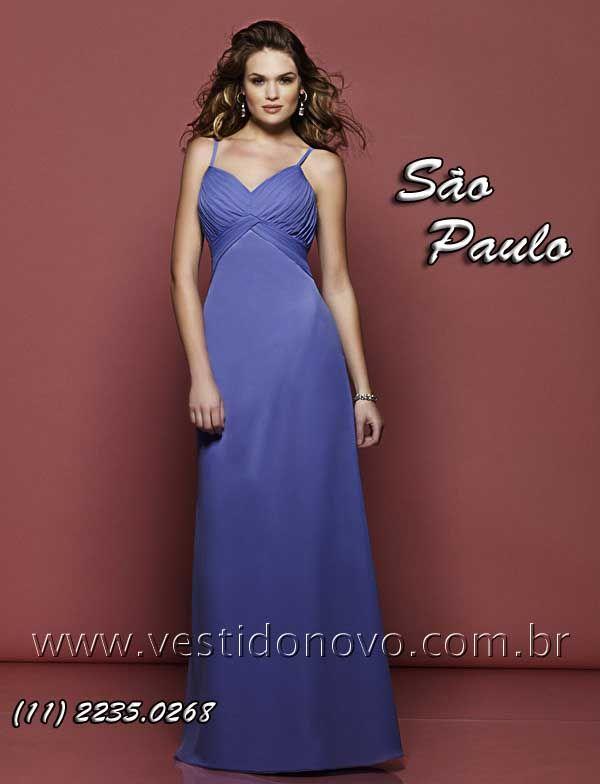 vestido azul, madrinha de casamento da LOJA VESTIDO NOVO zona sul de São  Paulo Para adb4104b61