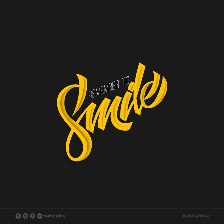 Remember to smile
