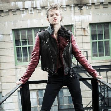 Rockin' leather on the street