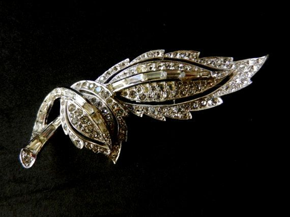 1957 Kramer Diamond Look collection Brooch  by RAKcreations