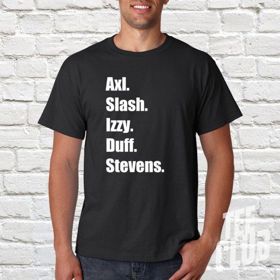 Guns & roses T-shirt Axl rose slash band shirt Rock by TeeClub