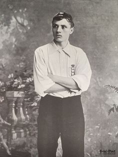 """""""Born at Cradley, near Birmingham, in 1874, S Bloomer first became associated with Derby County five or six years ago. He was then playing for the Reserves, and it was not until 1892 that a v…"""