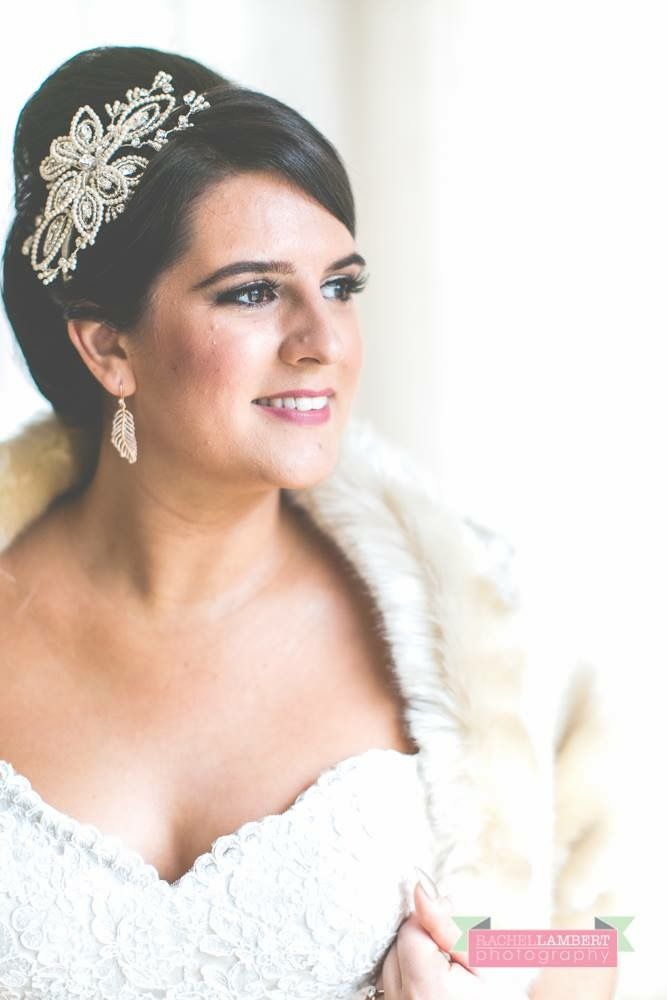 Gorgeous bridal accesories including a fauc fur jacket by Blanche in the Brambles.