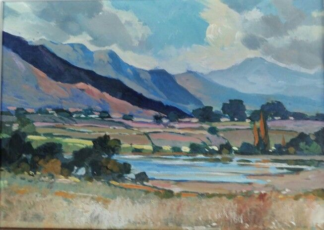 Painting done of the dam @ Stettyn Vineyard - Part of a 3 day course through Dale Elliott Art Studio...Villiersdorp, Western Cape, South Africa