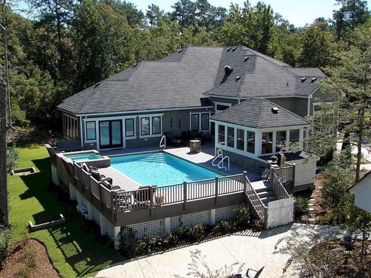 top 07 diy above ground pool ideas on a budget read more - Above Ground Pool Deck Off House
