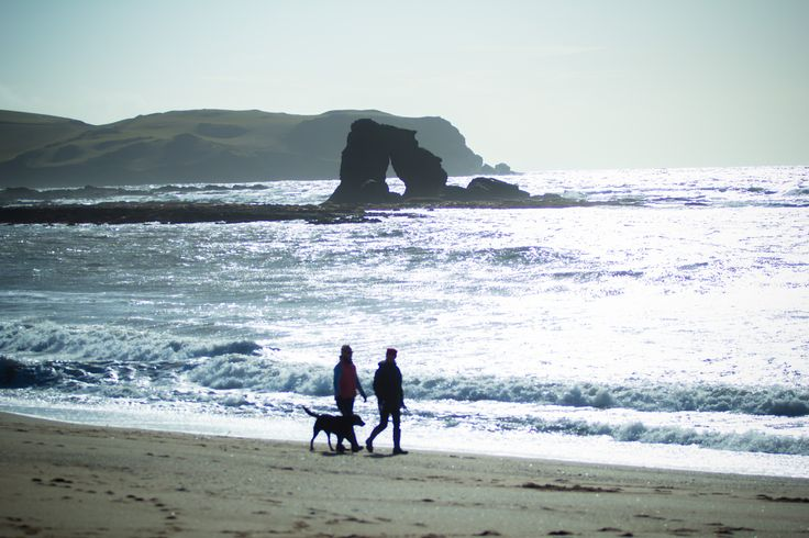 South Milton sands with the famous Thurlestone Rock. A stunning beach for a Sunday stroll and the perfect place to take your dog.