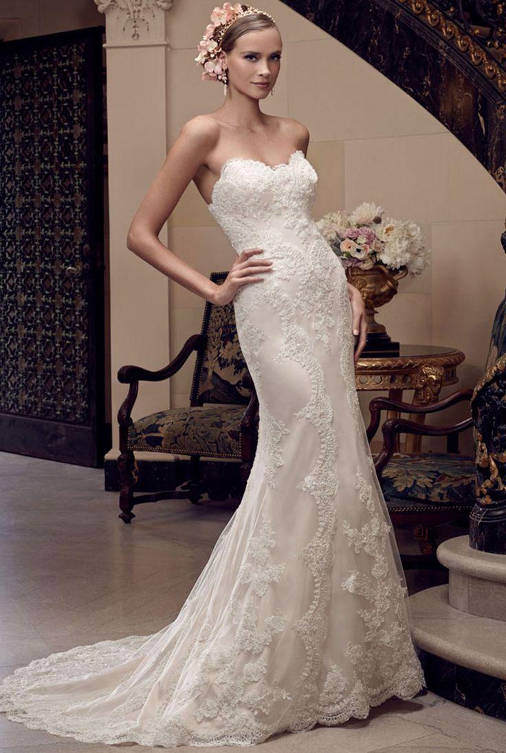 22 best casablanca bridal images on pinterest casablanca for Casablanca lace wedding dress