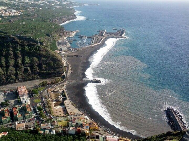 Playa de Tazacorte en Tazacorte, Canarias