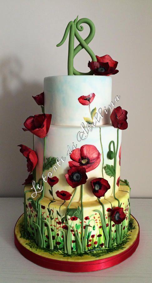 Poppies cake