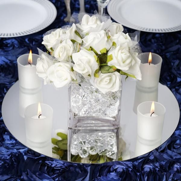 14 Pack Of 4 Round Glass Mirror Table Centerpiece Decorations Wedding Party Table Decorations Wedding Party Table