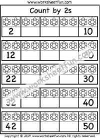 Counting By 2 S Worksheets Kindergarten