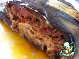 Баклажанная лазанья с мясом (бешамель, болоньезе, баклажаны, сыр)