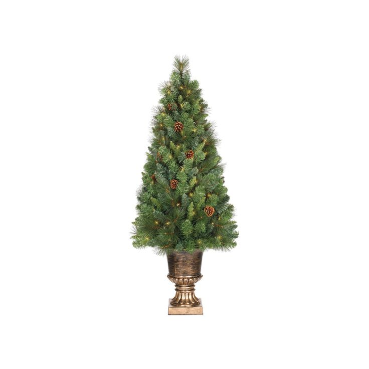 4ft Prelit Artificial Christmas Tree Potted Douglas Fir Clear Lights - Wondershop, Green