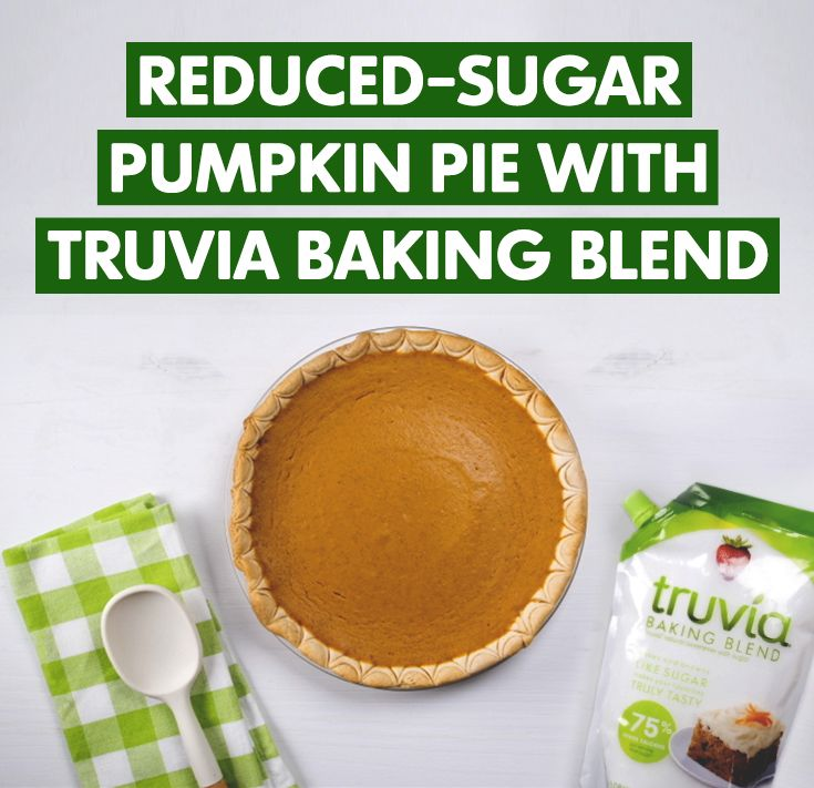 Are you pumped about pumpkin? Our delicious pumpkin pie recipe made with Truvia Baking Blend is a mix of your favorite fall flavors!