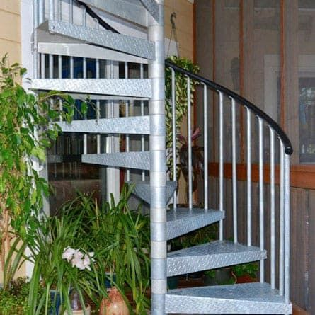 Best Black Metal Spiral Stair Kit The Charles Prefab Stair 400 x 300
