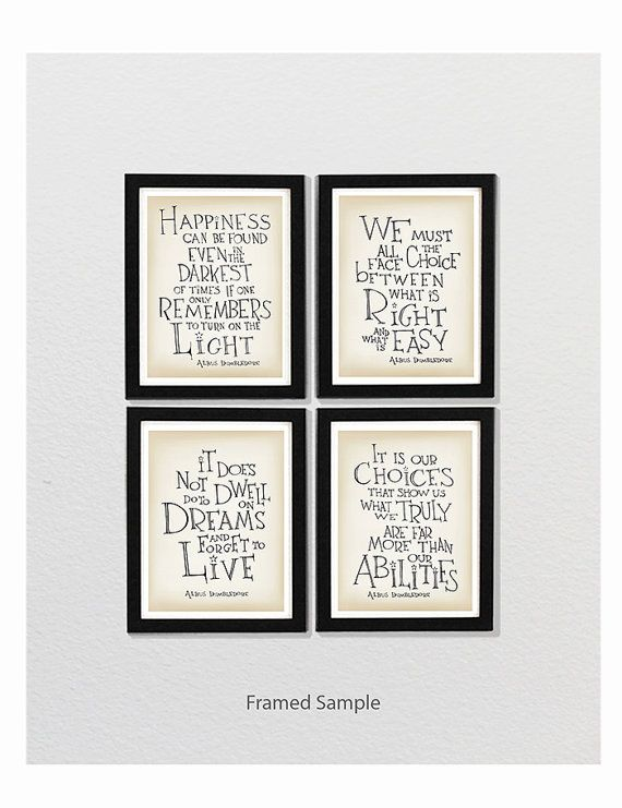 Harry Potter movie quote posters