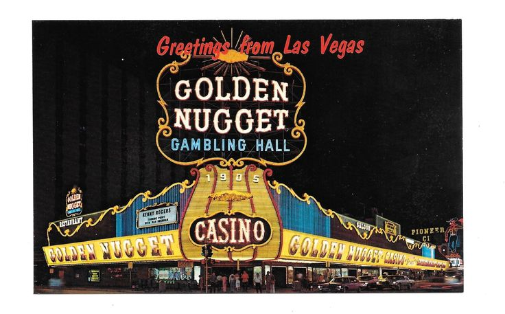 Vintage 1960's Golden Nugget Gambling Hall on the Strip ...