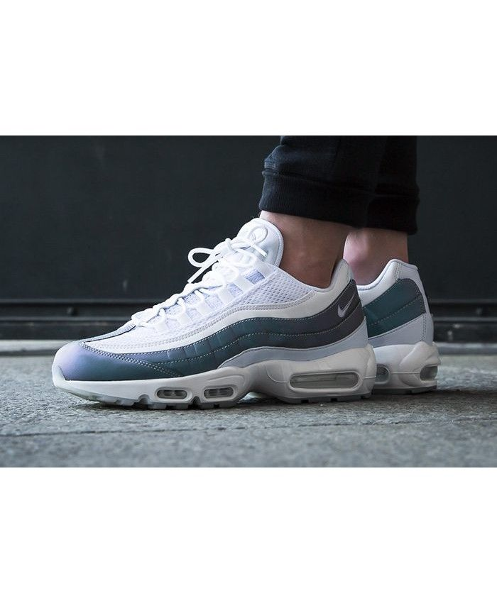 3378f1ddf24c8 Nike Air Max 95 Premium Glacier Blue White Trainers