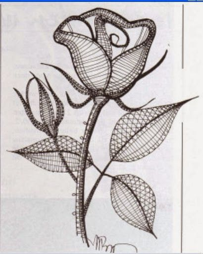 Afbeeldingsresultaat voor kantklos rozen patroon