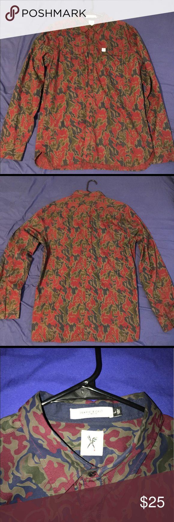 Marc Ecko Cut & Sew Camouflage Shirt Size L Marc Ecko Cut & Sew Shirt. worn 1x. Camouflage coloring. Marc Ecko Shirts Casual Button Down Shirts