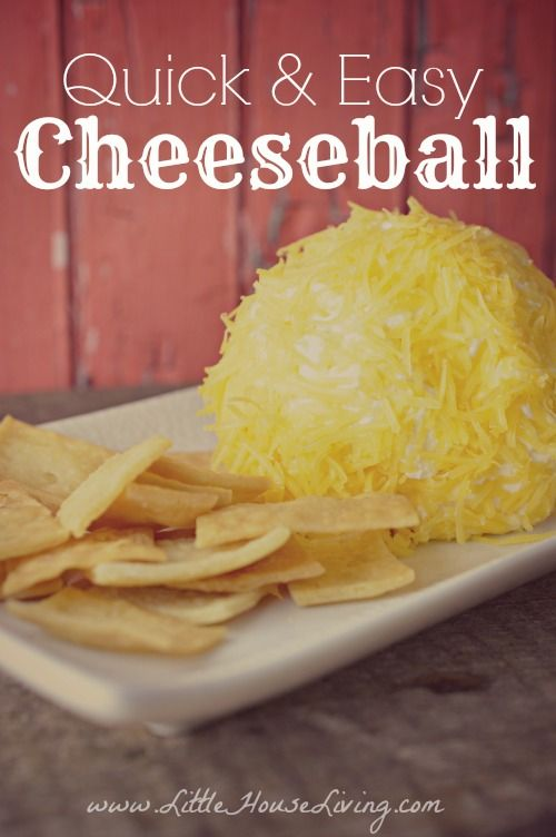 Easy Cheeseball Recipe. So simple you can make it with what you already have in the fridge. So delicious!