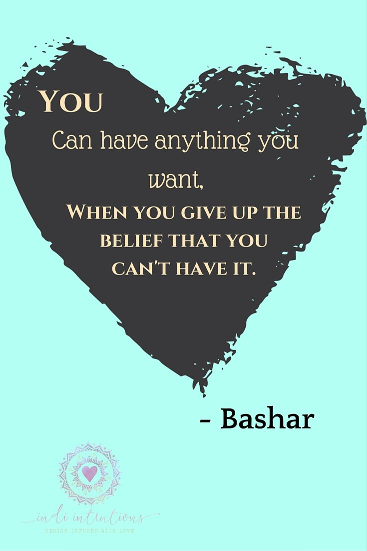 Words of wisdom on manifestation and the law of attraction from Bashar.  www.indiintentions.etsy.com