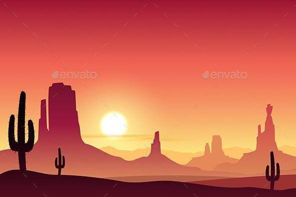 Desert Landscape Desert Landscape Art Desert Landscape Painting Desert Painting