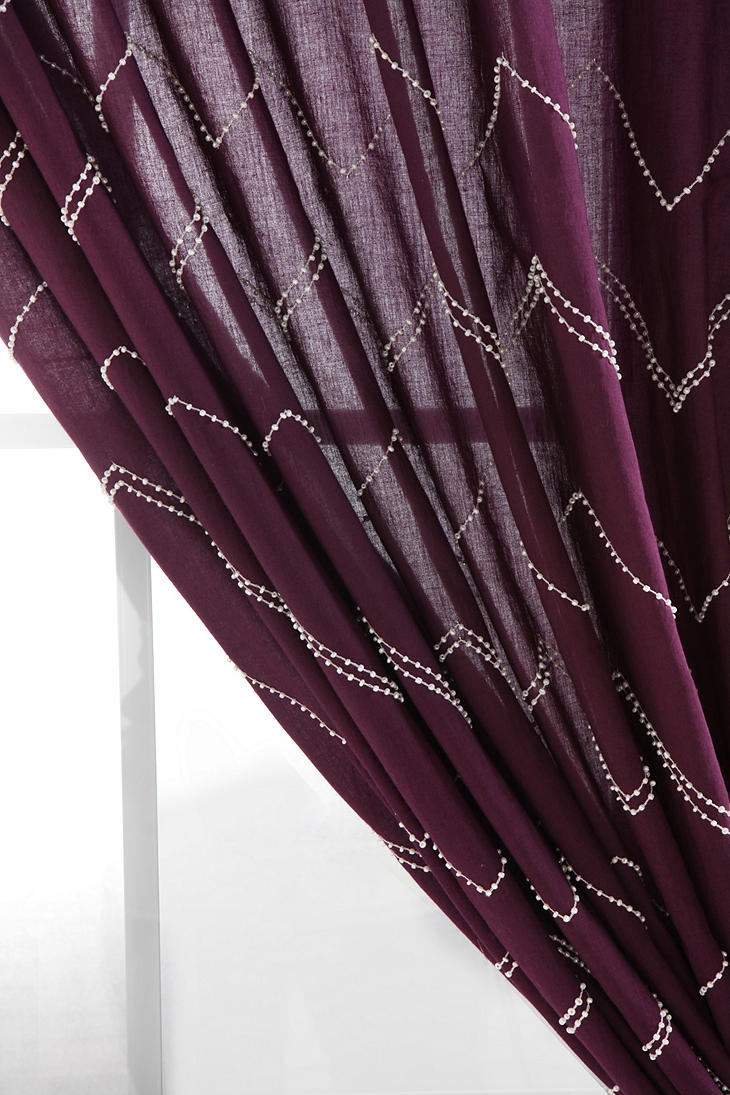 purple curtain inspiration for bedroom?