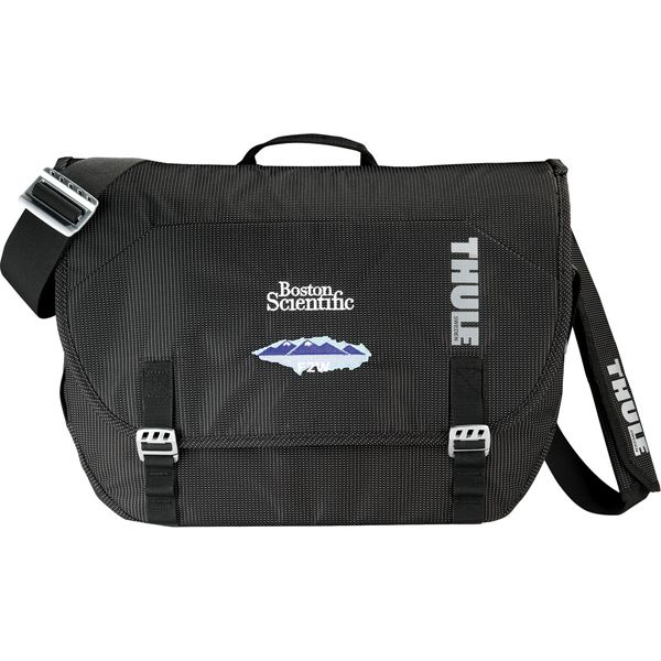 """Thule Crossover (TM) Compu-Messenger Bag -- The Thule (TM) Crossover messenger bag keeps laptops safe, eases the hassle of airport security with its checkpoint-friendly design, & keeps all other toys & gadgets organized while in pursuit of your next adventure. Security friendly laptop compartment fits up to 15"""" notebook. Designed in compliance with TSA guidelines so your laptop does not need to be removed when passing through airport security"""