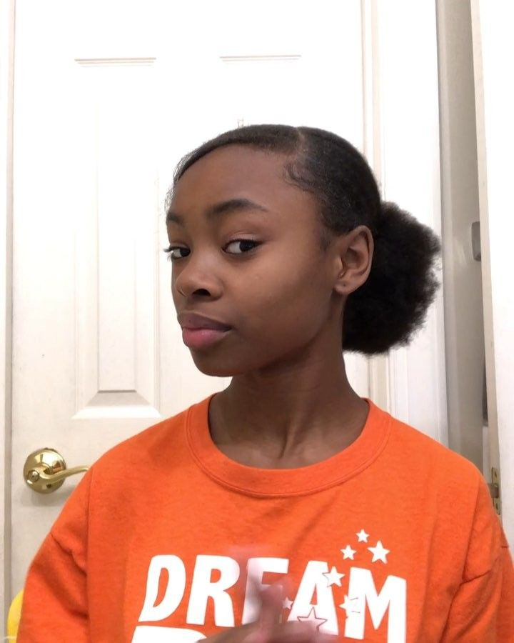 2 Low Buns Swoop D R E A M B I G If Viewing Follow Itssbaby Jayy Subscribe To My Youtube Channel Hair Puff Natural Hair Styles Ball Hairstyles