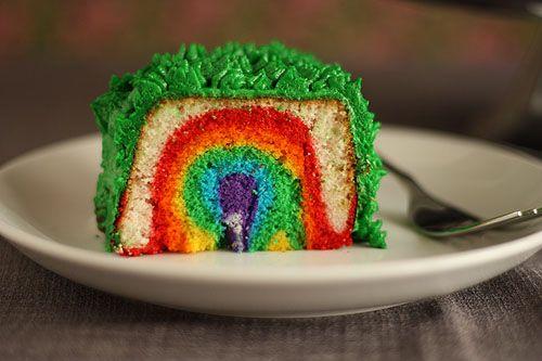 leprechaun trap rainbow cake