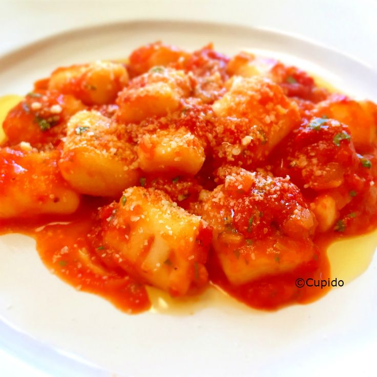 Rice Flour Gnocchi with Toato Sauce_©Cupido