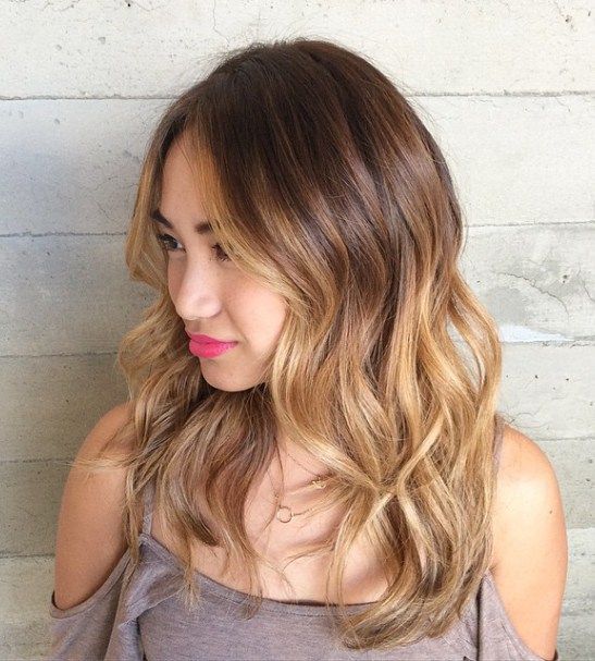 medium brown blonde ombre hair