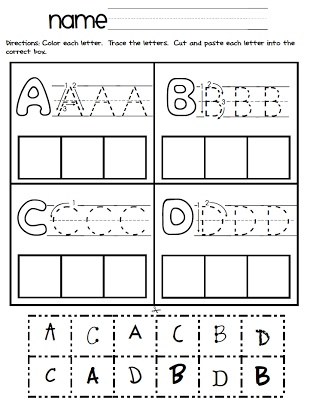 ABC Cut and Paste with different fonts!